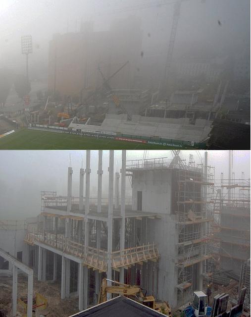 Foggy morning in Hamburg