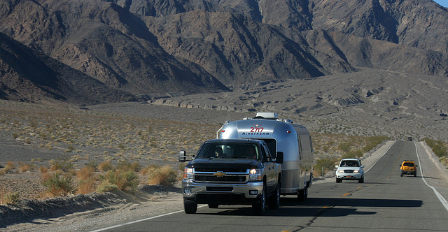 Airstream on California 190 in Death Valley NP (9600)