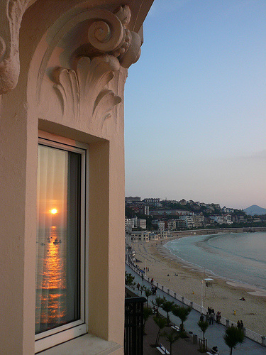Sunset in San Sebastien, Spain
