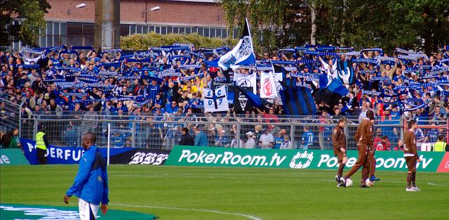 Gästefans beim Paderbornspiel
