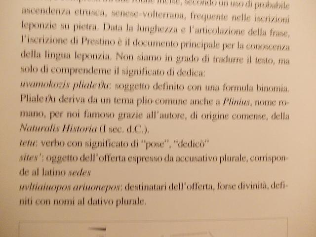 Etruskų įrašas, perskaitytas