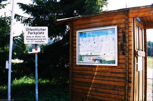 Sign and Hiking Map, Ulrichsberg, Schoneben, Austria, 2007