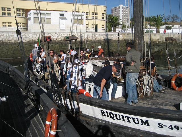 RIQUITUM, old boat (recovered) for salt transport at River Sado, dolphin's watch boarding