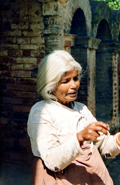 Old woman, Katmandu, Nepal