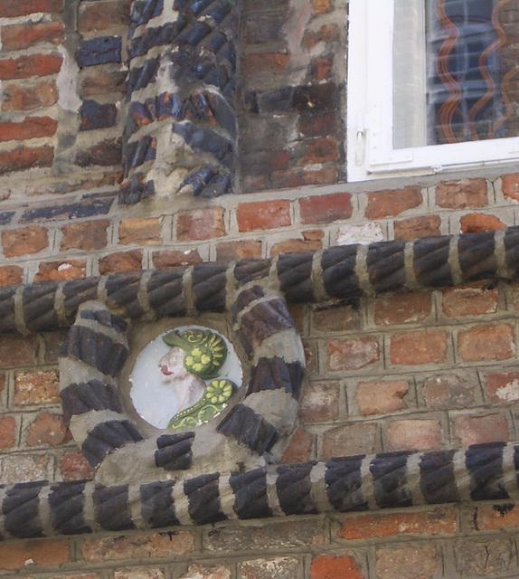 Ziegelbänder Detail