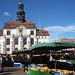 das Rathaus Lüneburg vom Markt aus