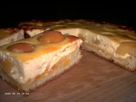Abrikozen-vanillevlaai