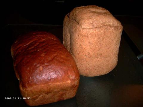 Boekweitwalnotenbrood en volkorenbrood