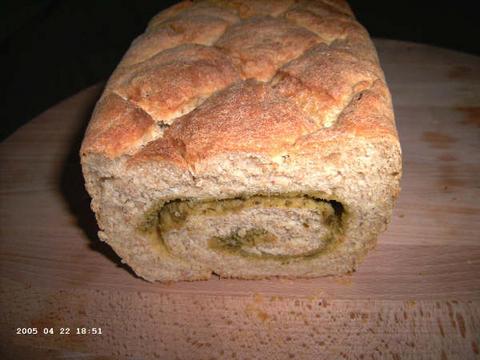 Gemarmerd (volkoren)pestobrood
