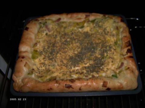 Pancetta-prei-plaatbrood