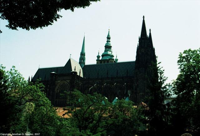 St. Vitus Framed By Trees, Picture 2, Prazky Hrad, Prague, CZ, 2007