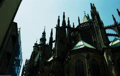 St. Vitus Cathedral, Rear View, Picture 3, Prazky Hrad, Prague, CZ, 2007