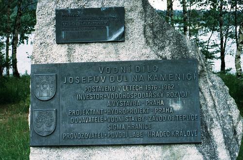 Josefuv Dul Reservoir Plaque, Kamenici, Bohemia(CZ), 2007