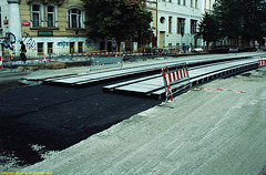 Slab Track Under Construction, Albertov (Nadrazi Vysehrad), Prague, CZ, 2007