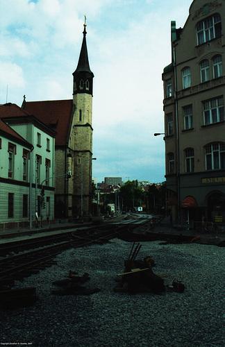 Tram Track Reconstruction, Albertov (Nadrazi Vysehrad), Prague, CZ, 2007