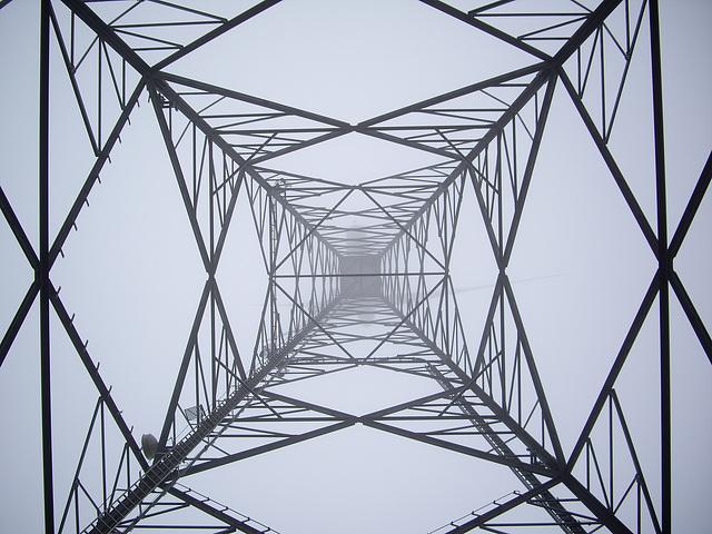 Windrad im Nebel / Wind wheel