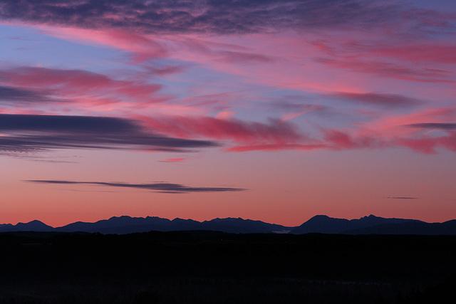 Die Alpen am frühen Morgen