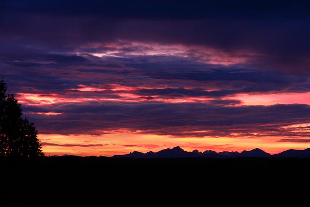 The Alps, this morning / Die Alpen heutemorgen