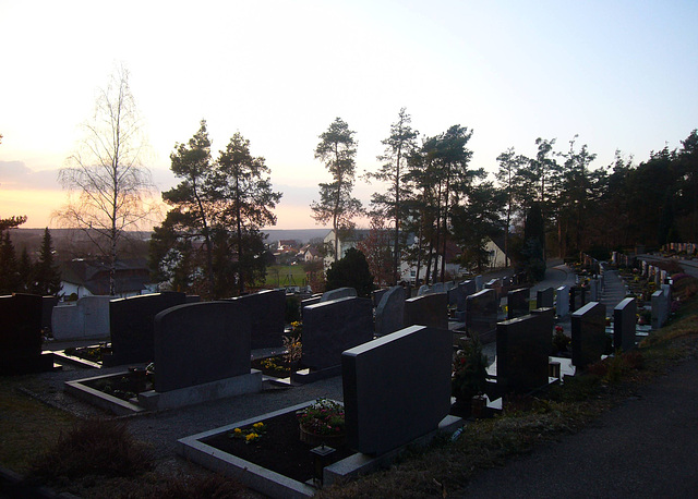 Sunset on the graves