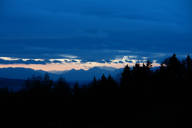 The Alps at sunrise I