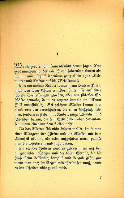 Peter Benedix - Auf der Landstraße (erste Textseite)