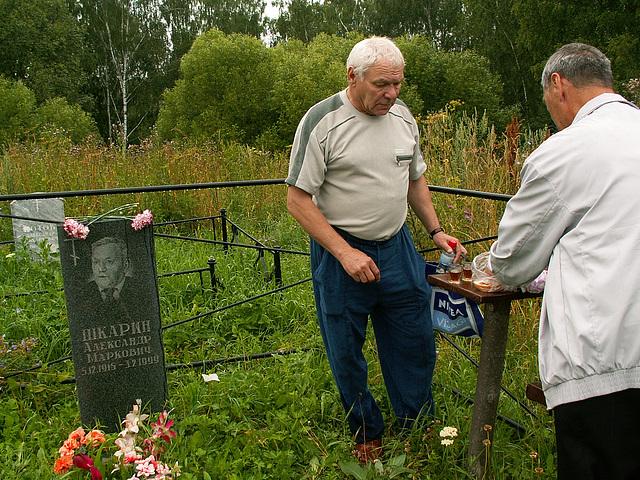 Celebration at a grave