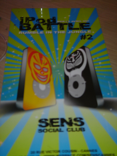 iPod Battle #2 au Sens Social Club