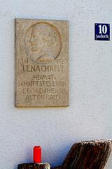 Glonn - Gedenktafel am Lena-Christ-Haus