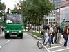 Police-watercannons welcomes visitors to Hamburg