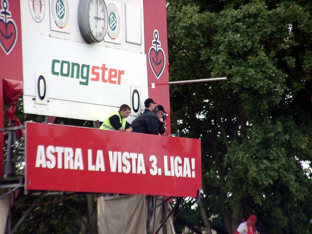 Camera-police on scoreboard