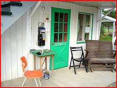 Solitude Ste-Françoise / 20 août 2006 - L'accueil  / Welcoming entrance.