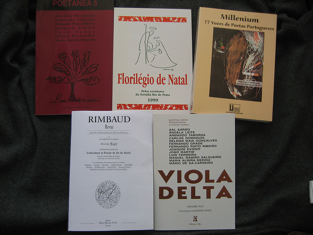 My participation in some anthologies of poetry and other colective books