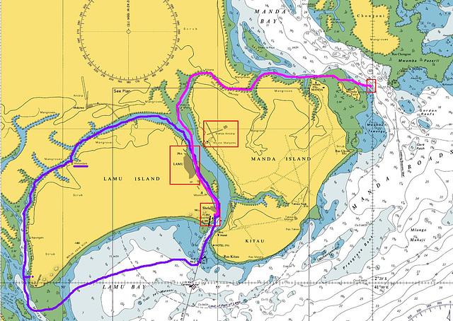 Kartenausschnitt Lamu