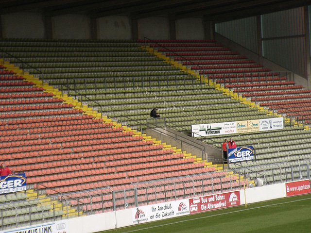 The first of the two KFC Uerdingen-supporters