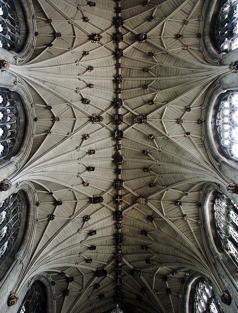 above the choir (Winchester Cathedral)