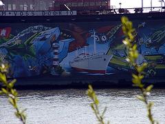 Graffiti on dock