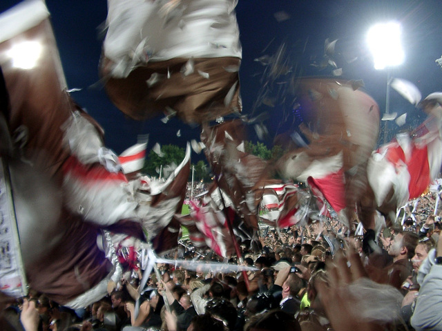 Flags and confetti