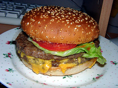 I'm not addicted to burger. ;-)