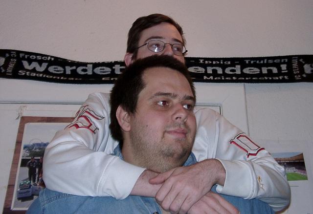 Me piggybacking Pierre
