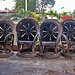 Armchairs made from truck wheels