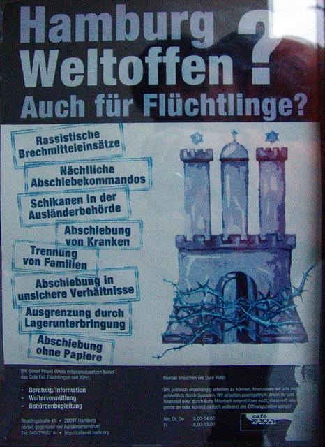 Hamburg Weltoffen? Auch für Flüchtlinge?