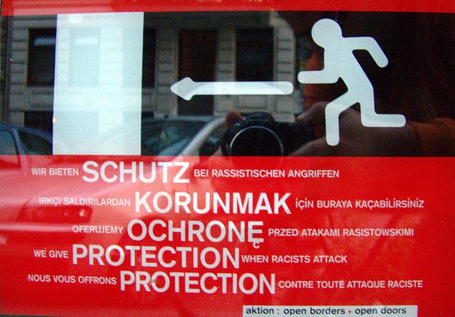 Wir bieten Schutz bei rassistischen Angriffen