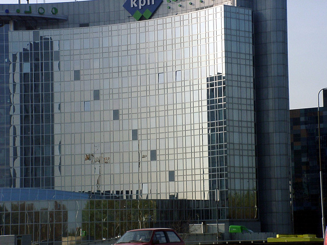 Reflecting building of kpn