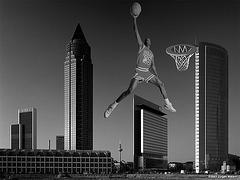 Air Jordan over Frankfurt