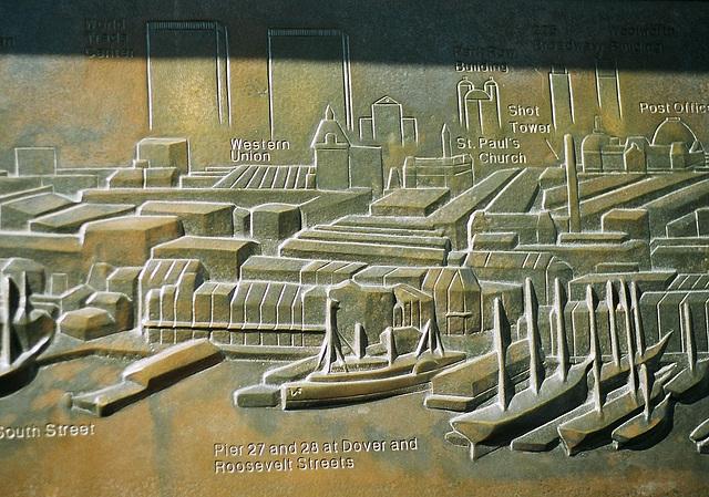 Brooklyn Bridge orientation plaque 2007.