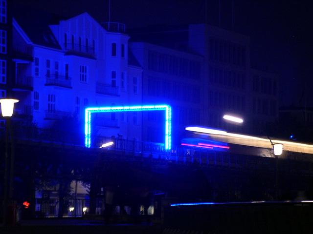 Blue goal - train
