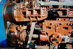 ex-CSD #498.022 Piston Rod Assembly and Valve Gear, Nadrazi Branik, Branik, Prague, CZ, 2007