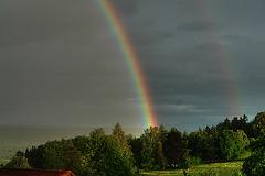 Rainbow over Icking –again!