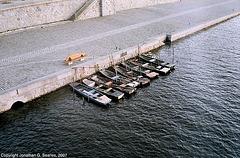 Rowboats In The Vltava, From Palackeho Most, Prague, CZ, 2007