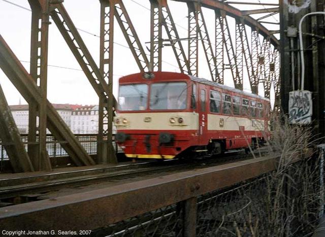CD 810 Class Railbus On Zelecnicni Most, Prague, CZ, 2007